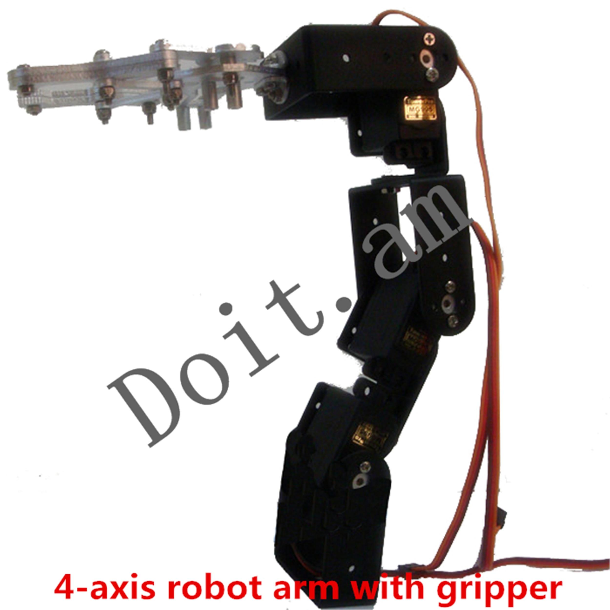 SNAM3900 DIY 4-DOF Aluminum Alloy Robot Arm with 4 Steering Gears Arduino Board