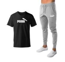 Спортивные футболки мужские кроссовки костюмы футболка+брюки для бега мужские спортивной костюм тренажерный зал футбол игровые наборы новый высокое качество спортивный костюм