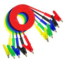 купить 5pcs 100cm Alligator Test Leads Multimeter Test Clips Probe Lead Banana Plug Cable Alligator Clip Wires For Mode P1024 дешево