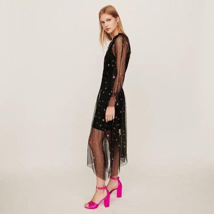 Nieuwe fairy jurk tweedelige vrouwen ster borduren jurk vrouwen kleding - 2