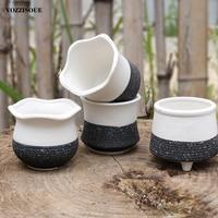 Sıcak sıcak Bonsai seramik saksı kore beyaz çiçek saksıları dekoratif etli Pot Maceteros Decorativos küçük saksı pişmiş toprak kaplar