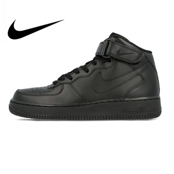 Nike Air Force 1 AF1 Original Official Breathable Men's Skateboarding Shoes Sports Sneakers Classique High Flat Breathable official new arrival adidas originals women s waterproof skateboarding shoes sneakers classique comfortable breathable outdoor