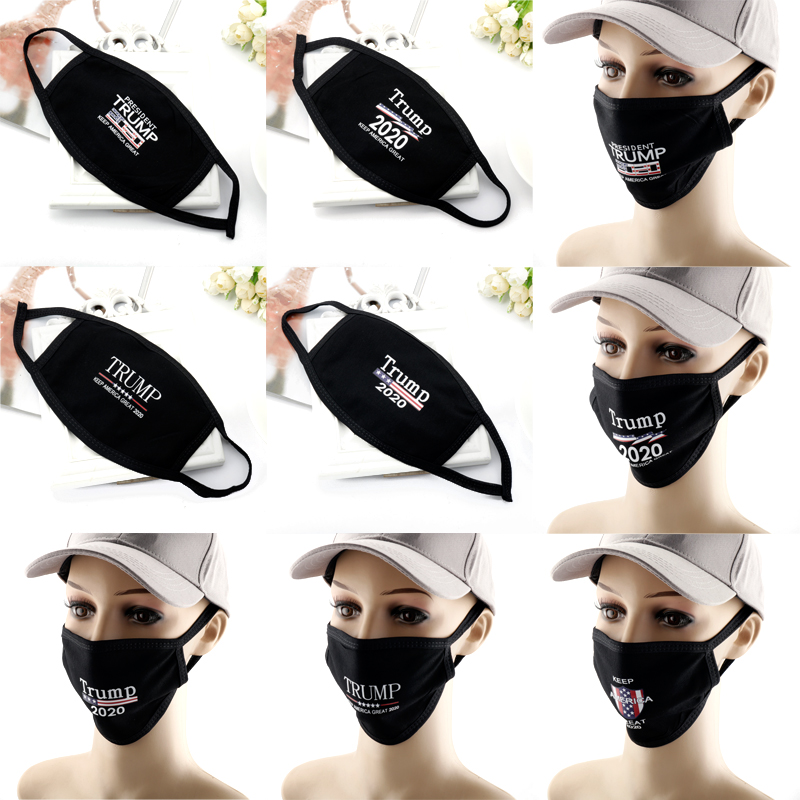2020 New Trump Cotton Face Mouth Masks  Make America Great Printed Windproof Dustproof Reuseable Washable Mask