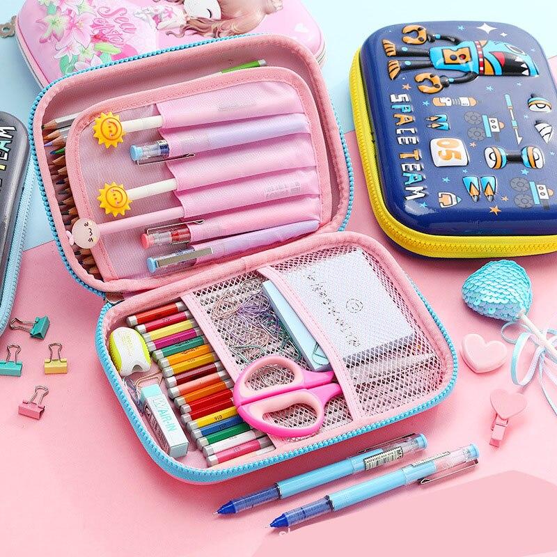 Кавайный чехол для карандаша в виде единорога, коробка для карандаша, милая большая вместительность, мультифункциональная ручка, чехол, школьные принадлежности для девочек и мальчиков 4
