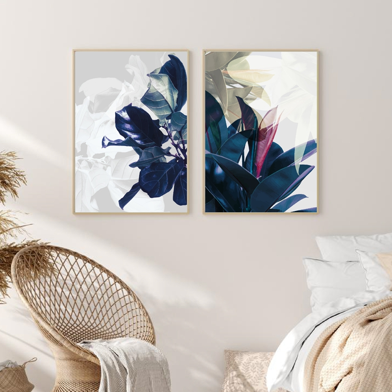 Abstract Watercolor Leaves Prints