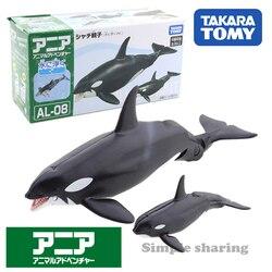 Takara Tomy, ANIA Animal Advanture, AL-08, Кит, родитель-ребенок (плавающий) Детская образовательная мини-игрушка-фигурка из смолы