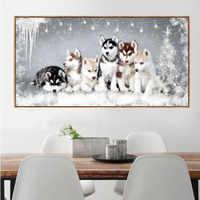 5D DIY diament haft pies obraz mozaika dżetów pełne plac diament malarstwo Cross Stitch Home Decor