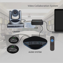 1080P 12x HD Zoom video audio conference solution conferencing camera speakerphone with 2 Expansion Microphones