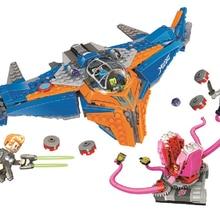 10748 481 шт Супер Герои Страж галактика Милано против Abilisk модель строительные блоки игрушки bricksсовместимость с Legoinglys