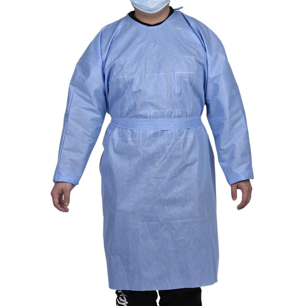 10pcs Disposable Bandage Coveralls Surgical <font><b>Gown</b></font> Dust-proof Isolation Clothes <font><b>Labour</b></font> Suit Non-woven Security Protection Wear image