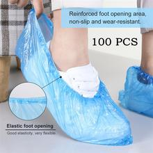 100 шт. Пластик одноразовые бахилы очистка галоши защитный напольный Водонепроницаемый Защитные чехлы для обуви протектор чехол для обуви