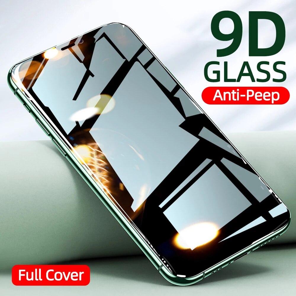 3D полный частные Защитная пленка для экрана для iphone 12 11Pro Max X XS MAX XR Анти-шпион закаленное стекло для iPhone 12 Мини пленка для защиты от солнца сте...