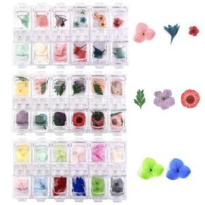 36pcs/Box Dried Flowers Plants For DIY Resin Jewelry Making Epoxy UV Handmade Craft Nail Art Decoration Hydrangea Narcissus