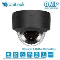 UniLook(Hikvision Kompatibel) 8MP POE Dome Sicherheit IP Kamera ONVIF Konform Outdoor Mikrofon in Nachtsicht IR30m H.265-in Überwachungskameras aus Sicherheit und Schutz bei