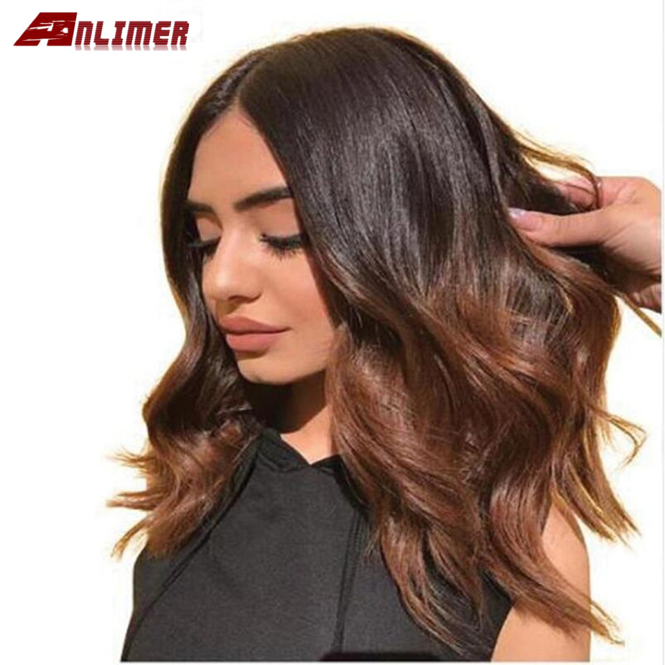Ombre 1b30# Lace Front Human Hair Wigs With Baby Hair Pre-Plucked Hairline Remy Brazilian Body Wave Glueless Wigs
