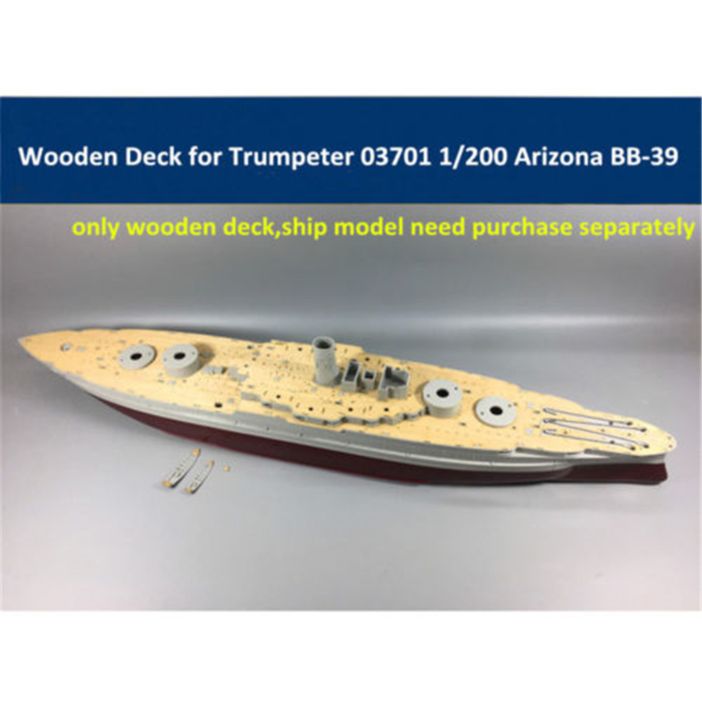 High Quality 1/200 Scale Wooden Deck  With Anchor Chain For Trumpeter 03701 1:200 Scale USS BB-39 Circa 1991 Ship Model CY03701