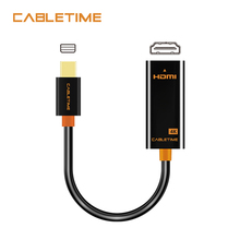 Cabletime Thunderbolt Mini DP to HDMI 4K Cable Mini DisplayPort to HDMI Adapter 4Kx2K for MacBook Pro Air iMac projector цена