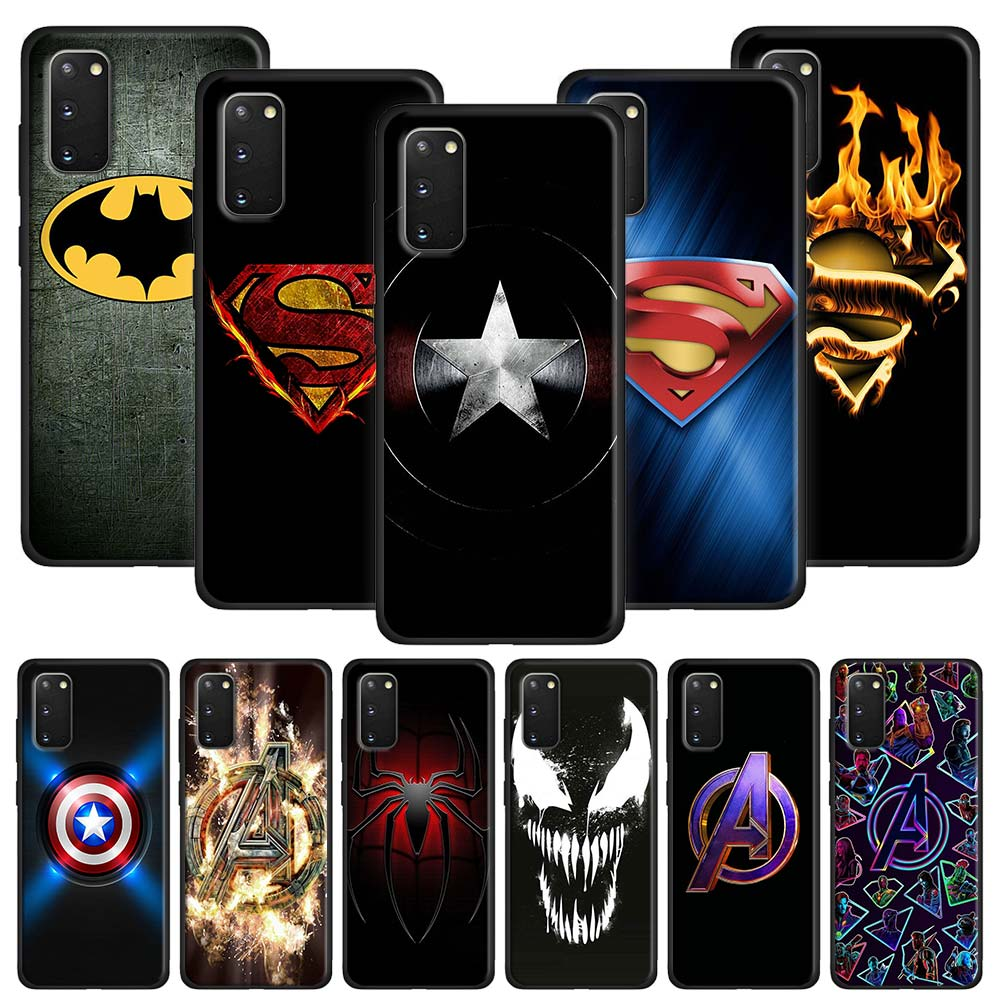 Marvel Superheroes Logo Soft Case for <font><b>Samsung</b></font> Galaxy S10 S20 Ultra <font><b>S10e</b></font> S8 S9 S10 Plus S7 S10 Lite Note 10 Plus 8 9 Cover image
