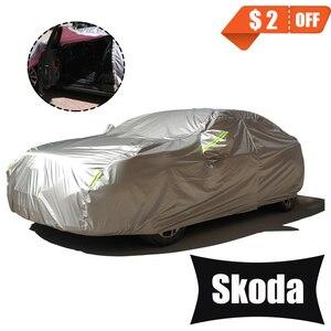 Image 1 - フル車カバー用サイドドアオープンな設計防水シュコダオクタa5 kodiaqファビアkaroq迅速なイエティ