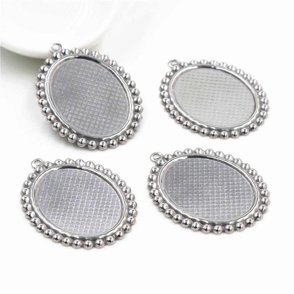 2pcs Cameo Settings 18 x 13 mm Silver Tone Setting Cabochons Settings Cameo Base Craft Supplies Jewelry making
