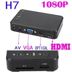 Image 2 - Mini Full HD Media multimedia Player Autoplay 1080P USB External HDD Media Player For SD U Disk HDMI VGA AV Output FOR MKV RMVB