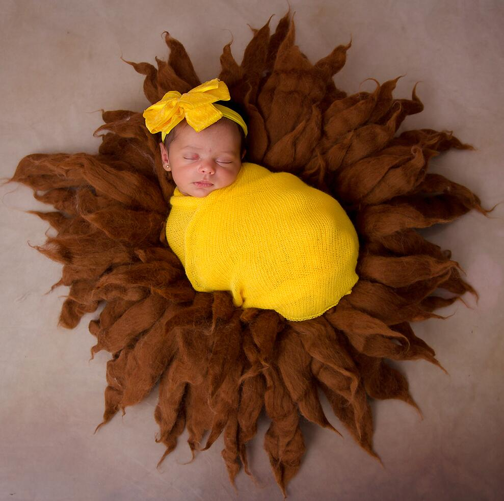 Don&Judy Newborn Photography Prop Baby Wool Blanket & Lace Wrap & Headband Soft Set Fotografia Accessories Studio Shooting Photo