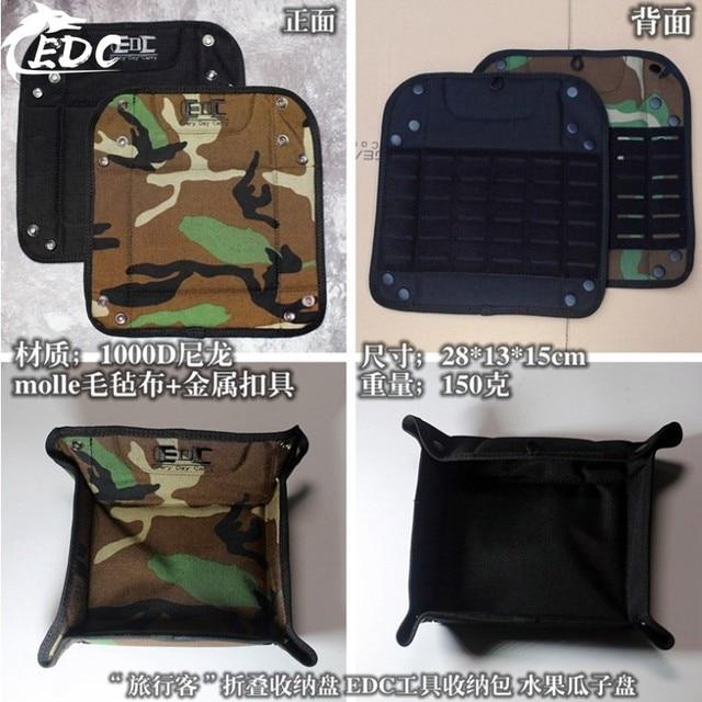 A118 EDC tool storage bag Multi-function tool bag Folding storage 1000D sundries storage tray