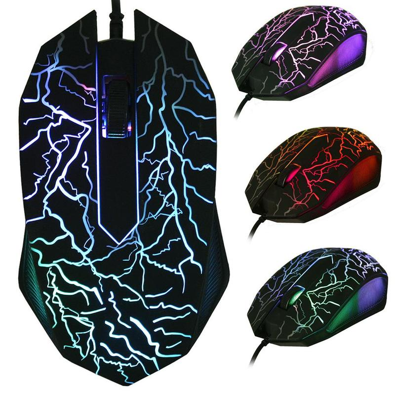 USB Wired 3200 DPI 3D Mouse LED Gamer Optical Professional Game Gaming Mouse Mice 3 Buttons For Computer PC Laptop