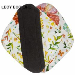 [Lecy Eco Life] Reusable lady light days cloth pads, waterproof pantyliner with bamboo charcoal inner, Feminine Hygiene Product