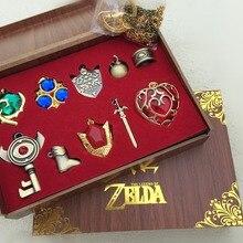 Легенда о Зельде Triforce Hylian Shield& Master брелок в виде меча Ожерелье Подвески Брелок коллекция оружия коробка Косплей Реквизит
