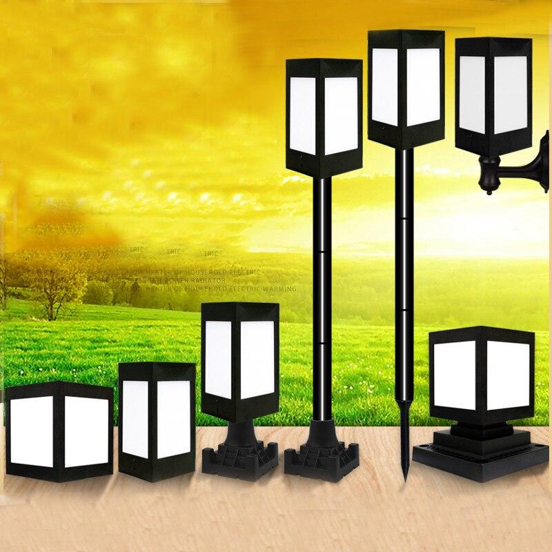 Thrisdar Outdoor Solar Garden Pillar Light Landscape Solar Porch Wall Lamps Waterproof Villa Lawn Fence Solar Column Post Lamp
