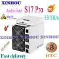 AntMiner S17 Pro 53TH/s SHA256 Asic miner BCH BTC Биткоин Майнинг лучше  чем S17e T17e S9 S15 R4 M3 M20S M21S E12 T2T T3 baikal