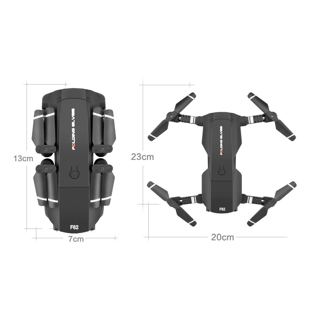 Купить с кэшбэком OMMUR F62 Protable Folding Mini Drone 4K HD Pixels Dual Camera-Visual Follow Gesture control VR mode Light flow positioning