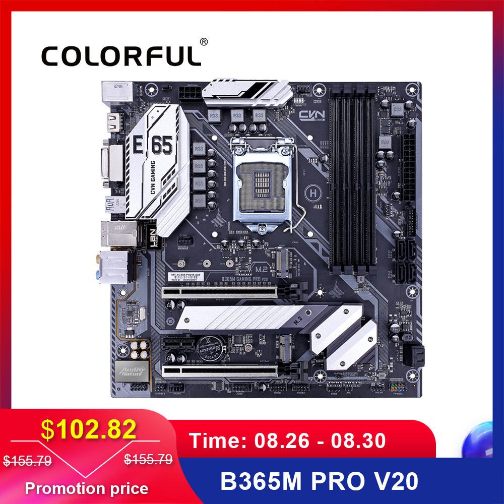 Colorful Intel B365/LGA 1151 Motherboard DDR4 M.2 Gaming Socket 1151 MATX Mainboard Sata3.0 PCI Express3.0 B365M GAMING PRO V20