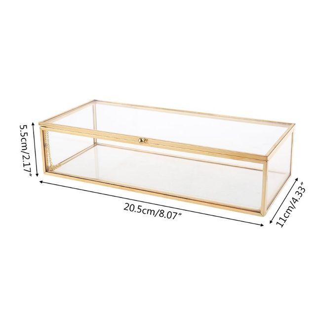 תיבת זכוכית דקורטיבית לאחסון - דגם לוס אנג'לס 2