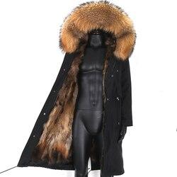 2020 Winter Man Waterproof x- Long Jacket Men Parkas Raccoon Fur Collar Real Fox Fur Coat Fox Fur Lined High Street Men Jacket