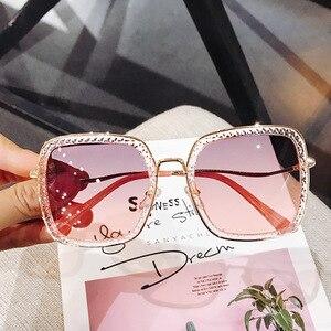 2020 Women Luxury Brand Polarized Sunglasses Men High Quality Crystal Sun Glasses Ladies Gradient Eyewear Female Glasses UV400