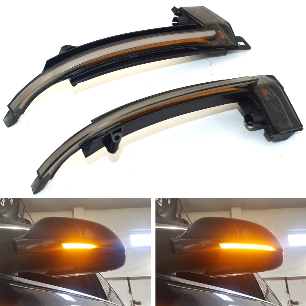 Dynamic Blinker Mirror Light for Audi A3 8P A4 A5 B8 Q3 A6 C6 4F S6 LED Turn Signal Side Indicator SQ3 A8 D3 8K image