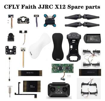 CFLY fe JJRC X12 RC aviones no tripulados de piezas de repuesto de cuadricóptero hoja GPS Cable cargador brazo cámara control remoto pie marco shell