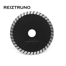 REIZTRUNO 5-inch Diamond Waved Turbo Blade Cutting Wet/Dry Disc for Grinder - Concrete Brick Tile Granite Marble Masonry