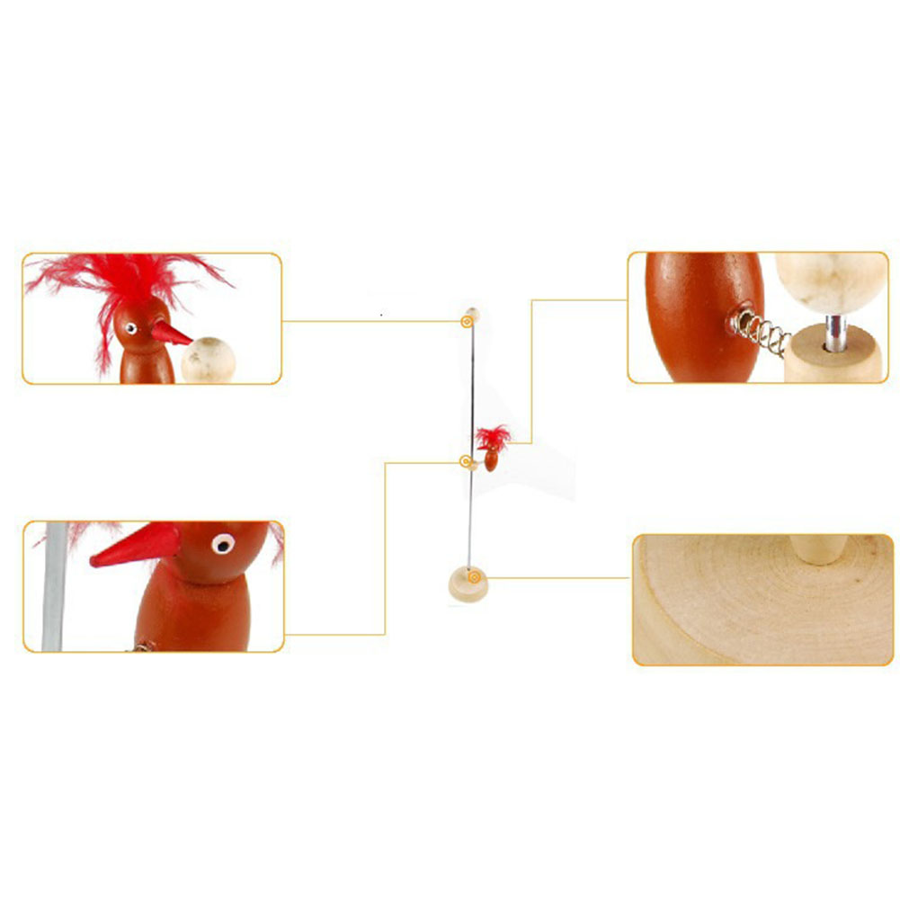 Toy Physics For Kids Science Animal Model Educational Gadget DIY Double Woodpecker Wooden Random Color Funny Colorful Gift