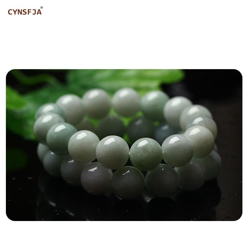 CYNSFJA véritable certifié naturel Grade A birman jadéite charmes amulettes Jade Bracelet Bracelet de haute qualité bijoux fins meilleurs cadeaux