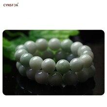 цена на New Arrivals Certified Natural A Grade Burmese Jadeite Emerald Bangle Charm Beads Jade Bracelets High Quality Wonderful Gifts