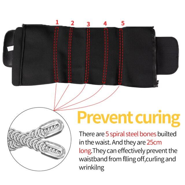 Men Workout Waist Trainer Abdomen Sweat Slimming Belt Weight Loss Shapewear Neoprene Fitness Belly Shapers Sauna Trimmer Belt 4