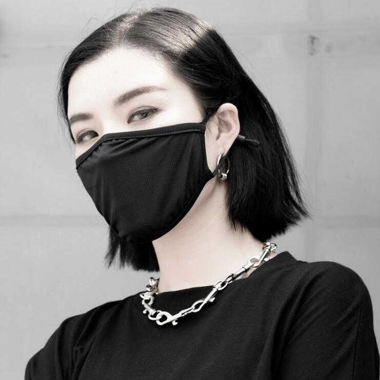 Women's Spring Summer Hollow Out Sunscreen Mask Lady's PM 2.5 Breathable Thin Mouth-muffle R2808