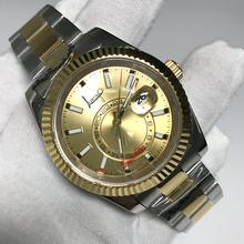 Get more info on the Luxury Brand New Men Automatic Mechanical Watches Sky Ceramic Bezel Crystal Sapphire AAA+ Quality Gold Coffer Silver