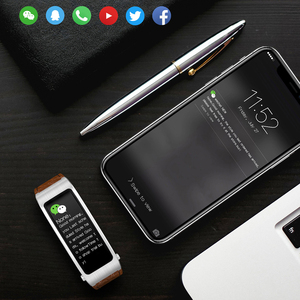 Image 4 - B5s Bluetooth earphone wireless earbud smart headset watch with microphone Smart Bracelet Waterproof touch screen music play