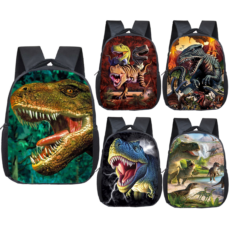 12 Inch Animals Dinosaur Backpacks 3D Dinosaur Children School Bags Baby Toddler Bag Boys Backpack For Kids Kindergarten Bags