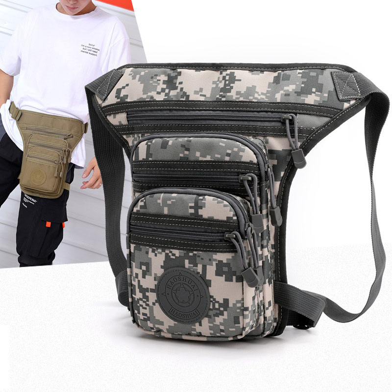Men Leg Bag Waterproof Oxford Leg Fanny Pack Male Motorcycle Riding Waist Bags Multi-functional Tactics Belt Bag Fishing Pocket