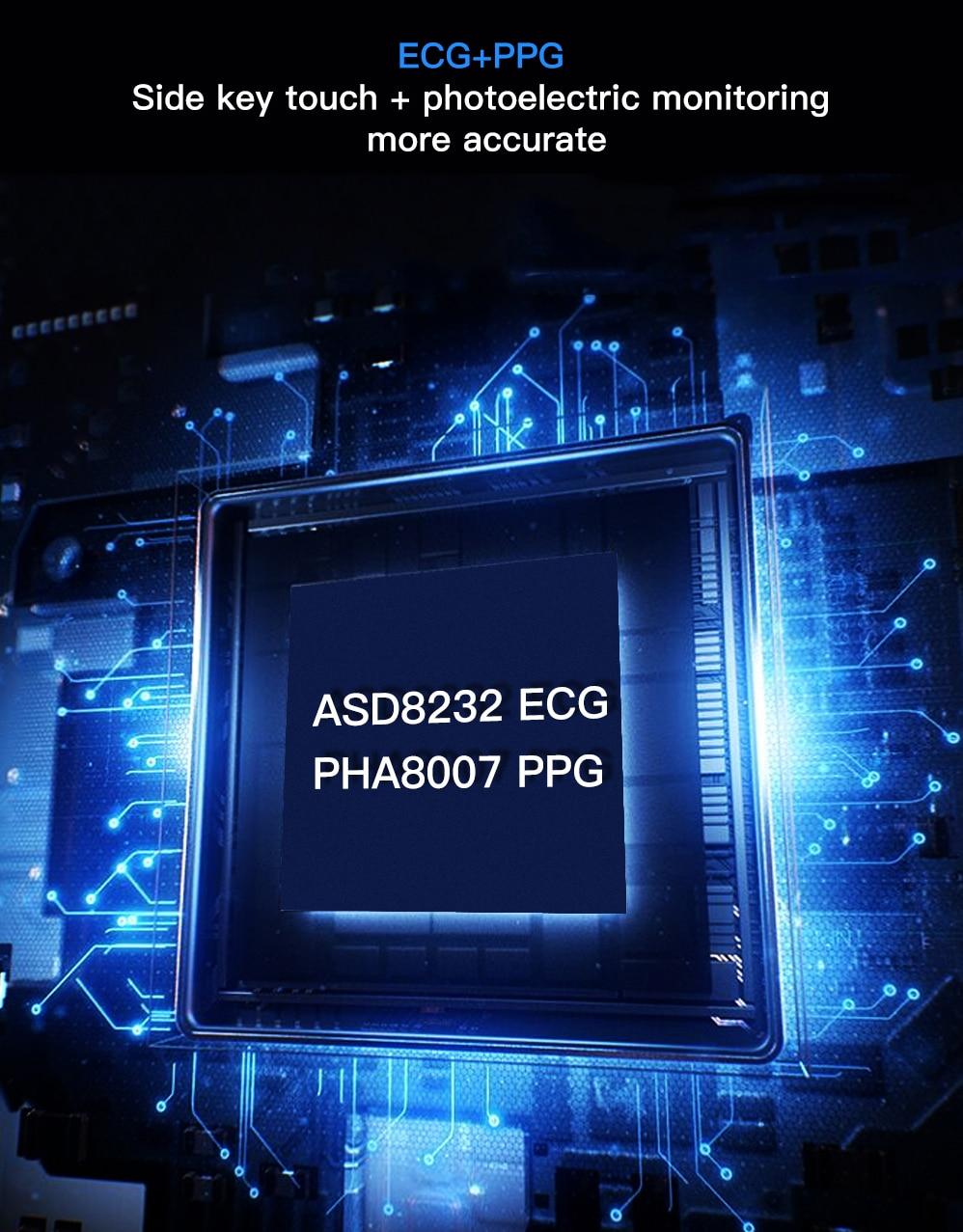 H6ed59219c3ef49b9b8913d6d2a14ae02I ECG Heart Rate Monitor Smart Watch 2020 Full Touch Screen SE03